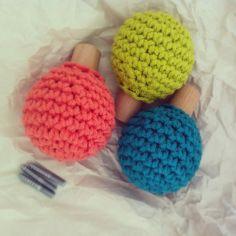 Crochet en los pomos de armarios, mesillas o incluso puertas