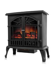 Northwest Pendragon Free-Standing Log Flame Fireplace