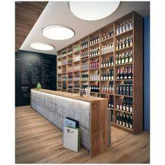 Shop Bar in commercials www, decorgreen.es Shop Bar by Lichik Paul Counter Design, Küchen Design, Store Design, Liquor Shop, Beer Shop, Deco Restaurant, Restaurant Design, Commercial Design, Commercial Interiors