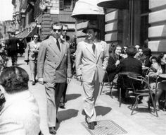 Charles (Lucky) Luciano  1930s (left)