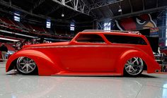 """1937 Ford five-window coupe that was turned into a 1935 Ford wagon by noted customizer Jim """"Bones"""" Noteboom"""