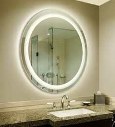 LED Backlit Circular Bathroom Mirror