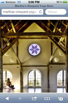 Martha Vineyards yoga studio... I would love to visit and practice here