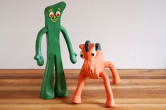 """Yup, Gumby split right up the crotch... I got a new one and a Pokey and a Gumby T-shirt. Ahhhh, I was only missing a pair of """"holy-shit-where'd-you-find-those-bitchin-Gumby earrings??!!!!!""""  Haha, those came out after I was way over Gumby...."""