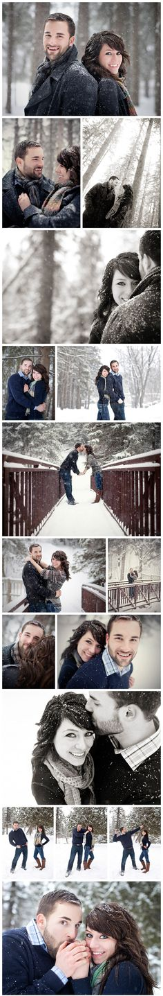 Engagement shoot in the snow! Not for everyone but we happen to LOVE it!