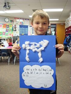 """For Weather Unit - use with book """"it looked like spilled milk"""""""