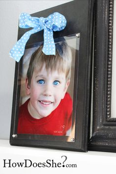 How to make a Plexi Frame! Perfect idea for Mother's day!