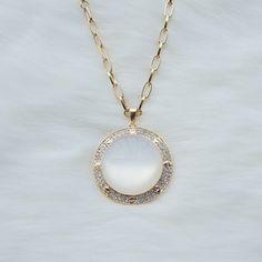 Simple circular white jade pendant necklace fashion jewelry,Simple design pendant necklace,Big pendant long necklace,Cheap jewelry