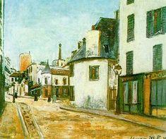 Street Mont-Cenis by Maurice Utrillo. Post-Impressionism. cityscape. Musée d'Art Moderne de la Ville de Paris, Paris, France