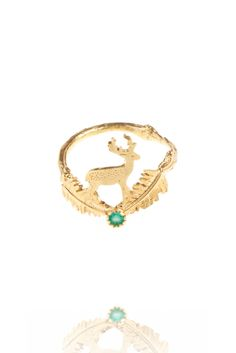 Stag and Fern Ring | amanda coleman jewellery