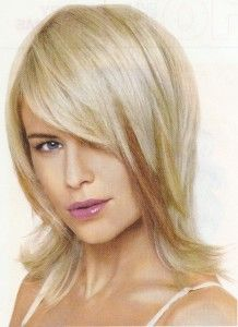 Medium layered shag. I'd like to have fun with that colored strip, maybe make it multi-colored.