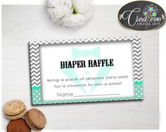 Check out Baby boy shower l.... Find it here: http://snoopy-online.myshopify.com/products/baby-boy-shower-little-man-diaper-raffle-insert-ticket-printable-mint-green-gray-theme-digital-files-jpg-pdf-instant-download-lm001