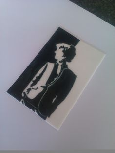 """Sherlock"" Picture painted on icing"