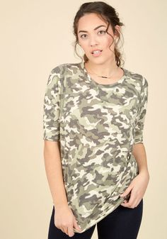 Best of Botanical Top in Camo, @ModCloth