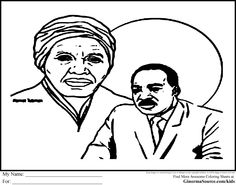 Coloring Page Harriet Tubman