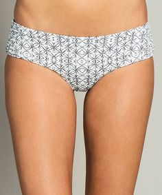 White Journey Retro Hipster Bikini Bottoms #zulily #zulilyfinds