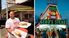 An authentic Philadelphia cheesesteak from Pat's... or Geno's?
