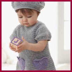 Patrones gratuitos para ropa y accesorios a crochet de bebés y niños.