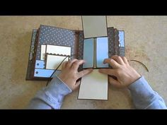 Mini album with flaps - for a little boy - alcune pagine interessanti Mini Album Scrapbook, Diy Mini Album, Papel Scrapbook, Mini Album Tutorial, Baby Scrapbook, Envelopes, Mini Pochette, Mini Photo Albums, Album Book