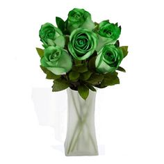 6 stunning dark green roses - the  perfect gift for birthdays, anniversaries or whenever you want to show a significant other how much you love them http://www.myfastbasket.com/p6094/Forest-Green-Spectacular-Rose-Bouquet-6-Roses/product_info.html