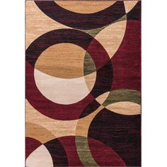 Well Woven Dulcet Bingo Rings/Circles Area Rug & Reviews | Wayfair
