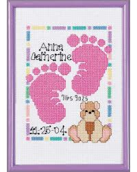 Baby Footprints Birth Announcement--for a little girl (if I end up having one)