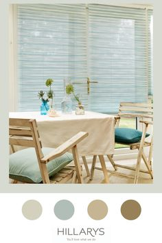 Sasso Blue Pleated blinds uses softer shades of blue so you can craft cooler and calmer interiors design or match it with other styles that will have a more subtle effect overall, like in this conservatory. By featuring a textured design the fabric has more detail and elegance that will make this material stand out more. View more of our options of side blinds for your conservatory space. Outdoor Chairs, Outdoor Furniture Sets, Outdoor Decor, Modern Conservatory, Shades Of Blue, Blinds, House Design, Interiors, Detail