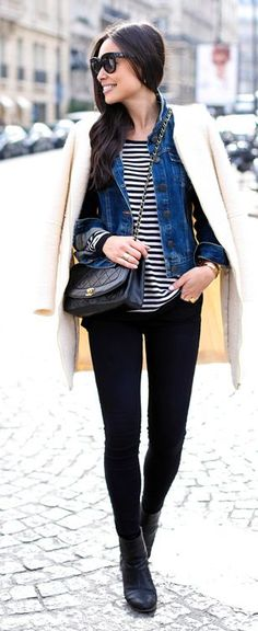 Denim Jacket Chic Inspiration Outfit by With Love From Kat