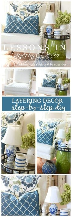 Really helpful tips about layering decor. It makes the space look more put toget… Really helpful tips about layering decor. It makes the space look more put together and intentional. Home Decor Accessories, Interior Decorating, Green Decor, Home Improvement, Home Decor, House Interior, Decorating Your Home, Home Decor Tips, Interior Design Bedroom
