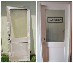 Lundry Room Door - Dream Book Design: How To Apply Vinyl Lettering