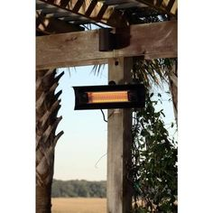 Fire Sense 1,500-Watt Black Wall Mounted Infrared Electric Patio Heater-60460 - The Home Depot