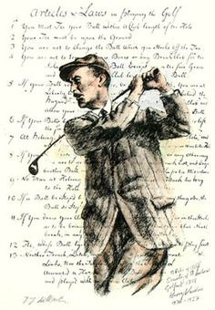 golfer with rules