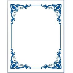 Blue Flower Borders For Word Document 5 Page Border Clipart - Free - Clip Art Library Frame Border Design, Page Borders Design, Page Borders Free, Borders For Paper, Borders And Frames, Page Boarders, Printable Border, Printable Labels, Wedding Borders