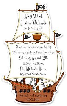 Pirate invite...love the wording!