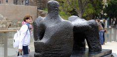 Henry Moore at Malaga. Alcazabilla St.