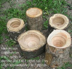 Medium OneofaKind Log Containers by RoosterStudios on Etsy, $35.00