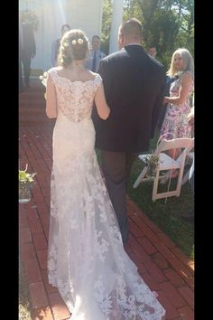 Lace added to wedding dress idea