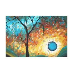 Aqua Burn MADART Original Painting Canvas Print