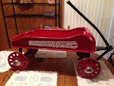 Streak O Lite Vintage Wagon Pull Wagon, Toy Wagon, Little Red Wagon, Radio Flyer, Old Toys, Mopar, Baby Items, Corvette, Vintage Toys