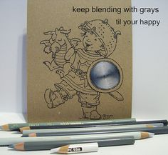 Dorcas Designs: Coloring Brown Hair on Kraft | Art: Colored Pencil ...