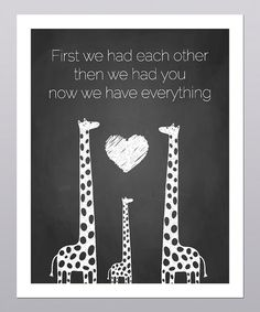 'Then We Had You' Giraffe Print   Daily deals for moms, babies and kids