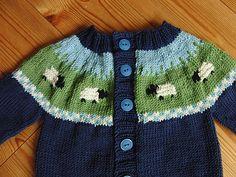 Sheep Yoke Baby Cardigan pattern by Jennifer Little #knit <3 #free_pattern