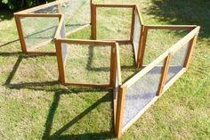 Folding Chicken Coop Fencing #DIYChickenCoops