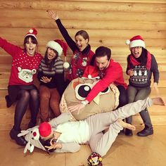 How to choose social media images. Our Community Team rocks their ugly sweaters. #getuglygrantwishes #getugly