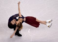 Gabriella Papadakis and Guillaume Cizeron of France perform during the Ice Dance Free Dance at the ISU World Figure Skating Championships at TD Garden in Boston, Massachusetts, March / AFP. Get premium, high resolution news photos at Getty Images World Figure Skating Championships, World Championship, Gabriella Papadakis, Figure Ice Skates, Tessa And Scott, Si Joint, Today In Pictures, Ice Dance, Ice Skating