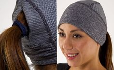 """Lululemon Brisk Run Toque ($24) is a special cap that is great to wear when running outdoors in Winter months or when walking to the gym. The toque covers your ears and contains a little """"set-my-ponytail-free window"""" so your hair doesn't stick to the back of your neck while running. It's moisture wicking and reversible, so you won't have a cold, wet head after a hefty workout."""