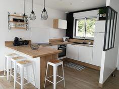Kitchen Room Design, Home Room Design, Home Decor Kitchen, Interior Design Kitchen, Home Kitchens, Updated Kitchen, New Kitchen, Small Apartment Design, Little Kitchen