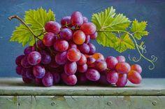 Willy Beruti continúa con sus clases para principiantes y explica cómo pintar uvas, ya sea blancas como oscuras, al óleo.
