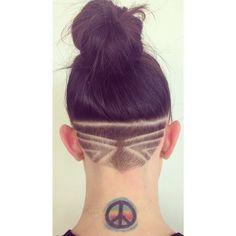 design by Kaitlyn Meyer (Derby) Undercut Hairstyles Women, Undercut Women, Pompadour Hairstyle, Popular Hairstyles, Female Undercut, Nape Undercut Designs, Undercut Styles, Shaved Undercut, Undercut Bob