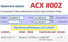 AdClickXpress (ACX) is the best ONLINE OPPORTUNITY for you. I WORK FROM HOME less than 10 minutes. Here is my Withdrawal Proof from AdClickXpress. I get paid daily and I can withdraw daily. Online income is possible with ACX, who is definitely paying - no scam here. Join for FREE and get 20$ + 10$ + 5$ Monsoon, Ad and Media value packs from ACX. My #02 Withdrawal Proof from AdClickXpress